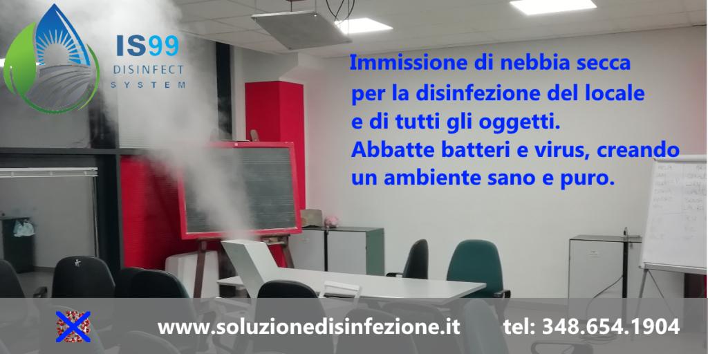 Soluzioni per la sanificazione e la disinfezione di ambienti interni, nel mondo industriale, professionale e domestico